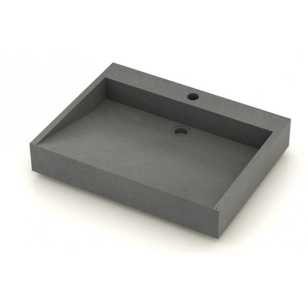 Vasque b ton cir lavoir 60x50cm unnik b ton for Vasque en beton cire