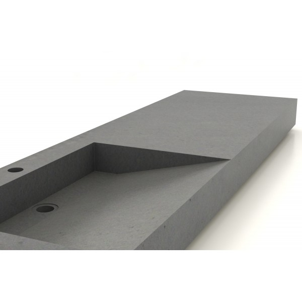 Vasque béton ciré lavoir-160x50cm - Unnik Béton