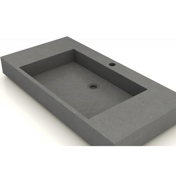 Vasque b ton cir 90x50cm unnik b ton for Vasque en beton cire