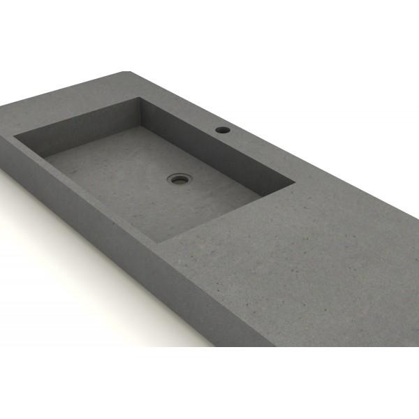 Vasque b ton cir 120x50cm unnik b ton for Vasque en beton cire