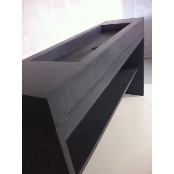 Meuble salle de bains et vasque beton 160x50cm unnik b ton - Meuble vasque de salle de bain ...
