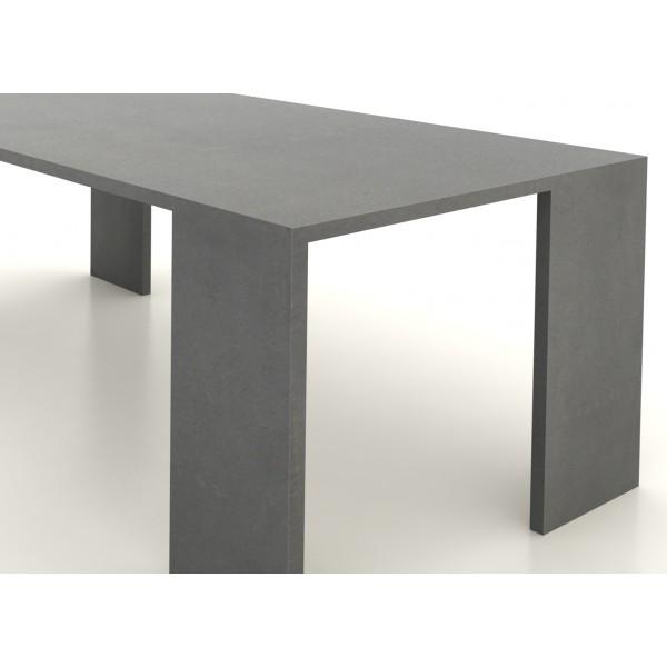 Table en b ton cir 200 cm par 90 cm artisan b ton cir for Hydrofuge beton cire