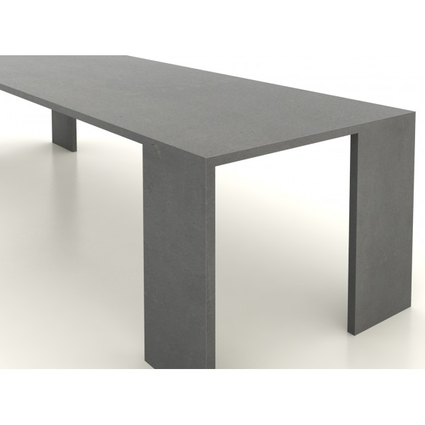 Table en b ton cir 200 cm par 90 cm artisan b ton cir for Table effet beton cire