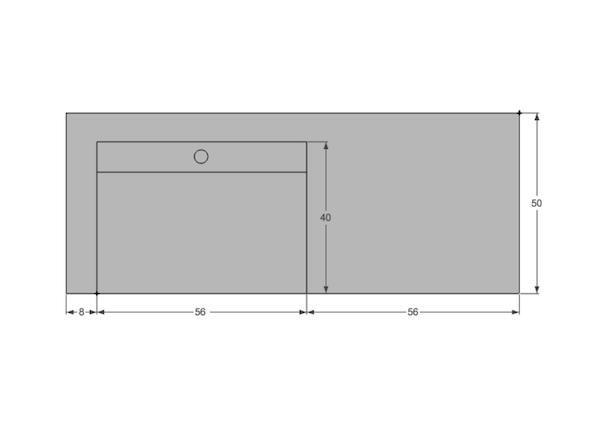 vasque b ton cir lavoir 120x50cm unnik b ton. Black Bedroom Furniture Sets. Home Design Ideas